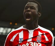 But de Mame Biram Diouf : Stoke City 2-0 Everton [28e Journ�e]