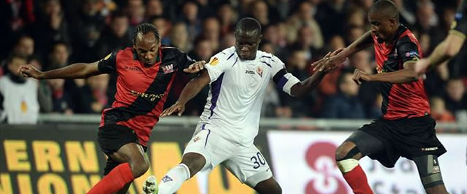 But de Babacar Khouma : Guingamp 1-2 Fiorentina [Europa League]