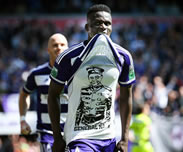 But de Kara Mbodj: Anderlecht 2-0 Gantoise (Play-off 1, J06)