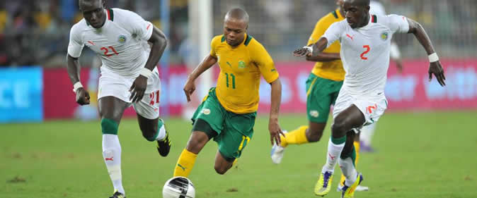 Match amical : L'Afrique du Sud et le S�n�gal dos � dos (0-0)